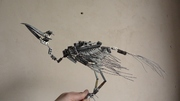 Bird armature - folded wings