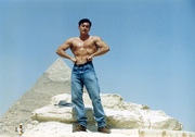 Me in Cairo at the pyramid