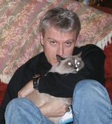 With my cat Grace