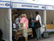 Linda Ballou and Carolyn Howard Johnson talking at L.A. Book Fest 2009