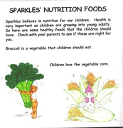 Inside Book Sparkles' Nutrition Food