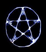 Pentagram i vatten