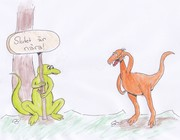 Två dinosaurier