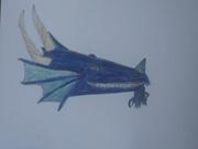 Listig blå drake