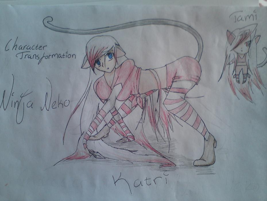 Min egna manga karaktär Katri och hennes Shugo Chara Tami
