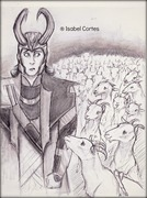 Loki and goats