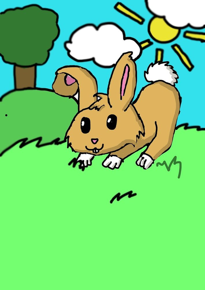 Lekfull kanin