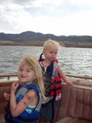 Callie and Marissa out on the water