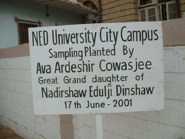 NED Old Campus Sign