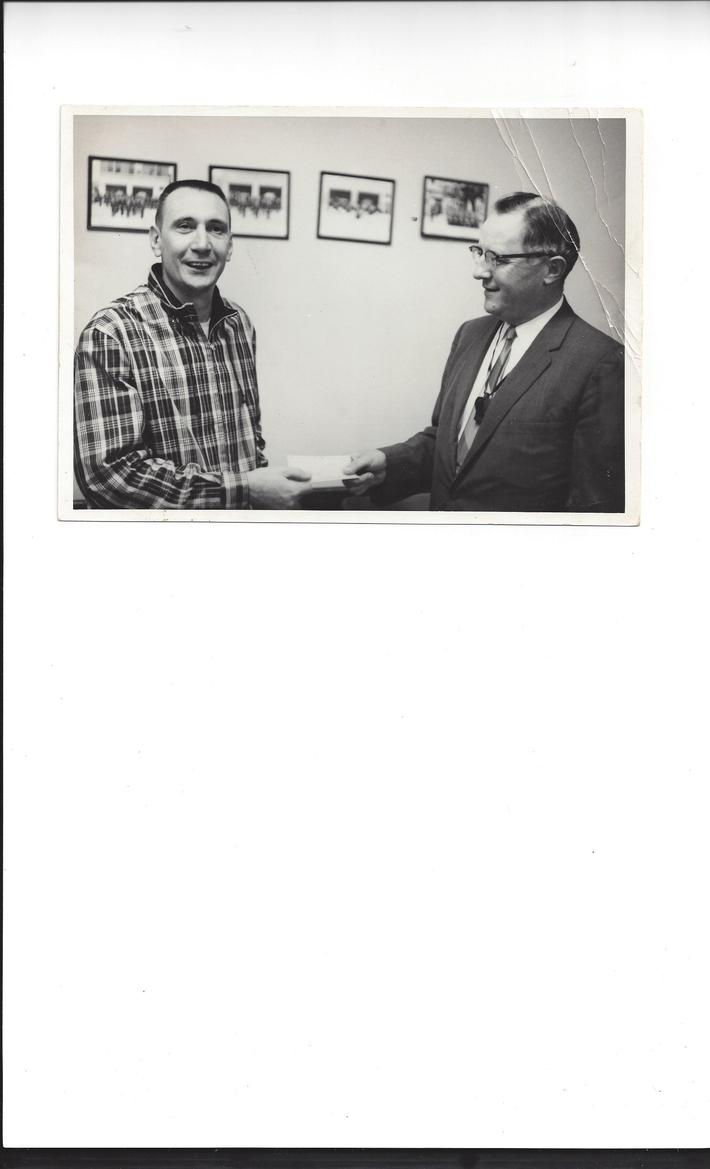 Charlie Krauss with Fireman George