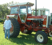 Charles with his IH 1206