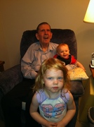 dad with abby and liam