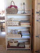 Waldorf homeschool shelves