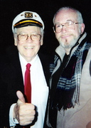 SATCHMO'S FORMER PIANIST, MARTY NAPOLEAN AND ME, NYC, 2001