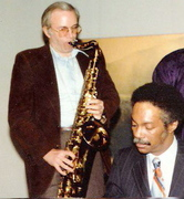 ME WITH HUGH LAWSON, JAMMING IN NYC, 1981
