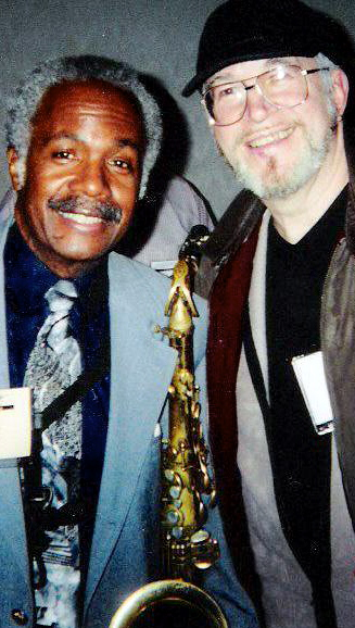 TENOR TOUGHIE HAROLD VICK WITH ME AT IAJE, NYC 2001