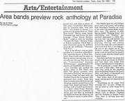 REVIEW OF SHOW @ THE PARADISE THEATER   FRONT PAGE ENT. SECTION