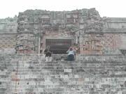 JJ HUrtak and Louis at the Uxmal Temple