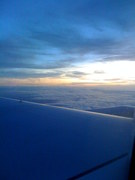 Above the Atlantic at sunset