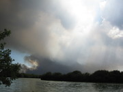 Everglades Flamingo Fire view from Pouratis Pond