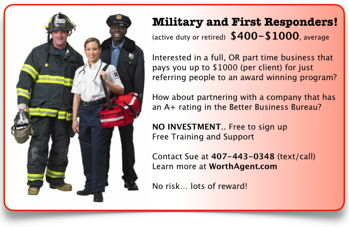 Military & First Responders!