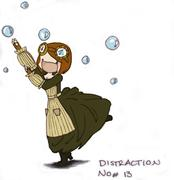 Distraction by Bubbles