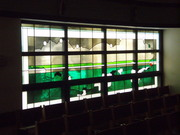 Modern art glass at St. James Cathedral