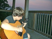 Mike's guitar sunset