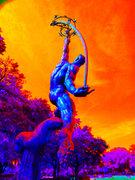 Color study-Statue,O.M.A.,orlando