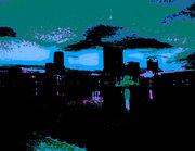 Lake Eola Fountain at Night-color study#2
