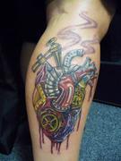 broken steam heart tattoo
