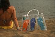 tLADY  ON BEACH