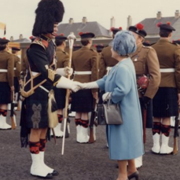FW: The Queen Mother at Queens Barracks Perth Scotland