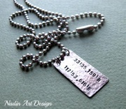 Mens ID Tag Necklace