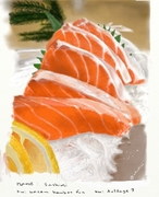sashimi painting