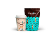 Rabbitie packaging and coffee cup