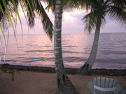 Sunrise in Belize.