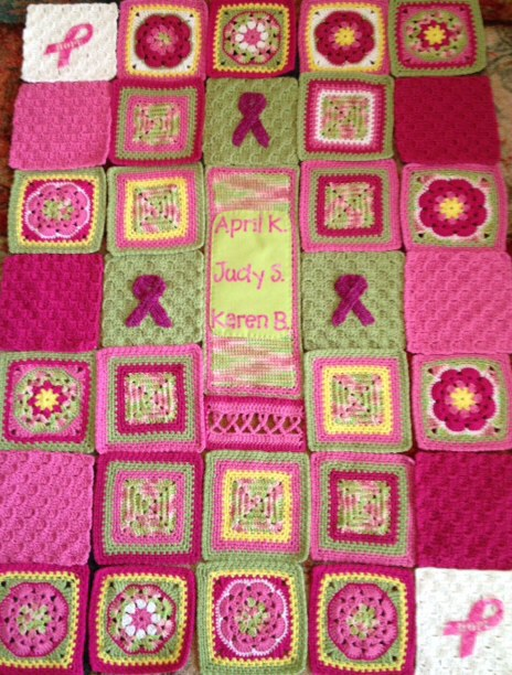 Breast Cancer Memorial blanket