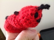 Teaching myself to crotchet.. First item..Ladybug finger puppet...still some way to go for a KAS Cuddlebug