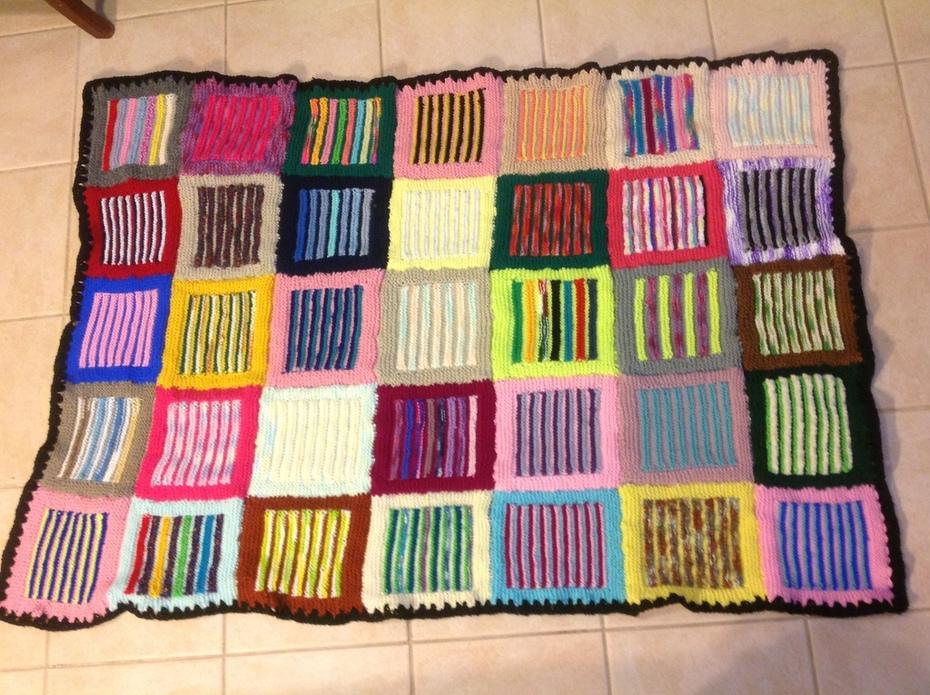 SASSY STRIPES..Blanket number17