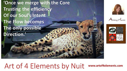 Art of 4 elements spiritual poetry by Natasa Pantovic Nuit about Divine Flow and Happiness
