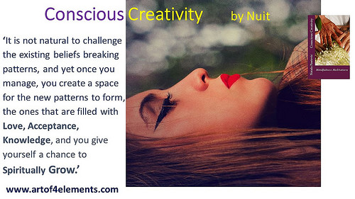 challenging beliefs Conscious Creativity Mindfulness Meditations book quote by Nataša Pantović Nuit