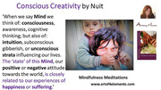 Conscious creativity mindfulness meditations book quote by Natasa Pantovic Nuit