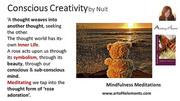 meditation rose adoration conscious creativity mindfulness meditations book quote by Natasa Pantovic Nuit