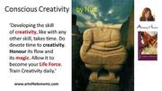 Conscious Creativity quote by Natasa Pantovic Nuit