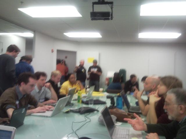 Folks working on Crisis Haiti in DC 1/17/10