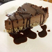 Raw vegan chocolate cheezecake