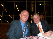 "Bill Ponath, author of ""Verdict For America"" with Dick Morris at the Tea Party Summit in Phoenix, Arizona Feb. 26, 2011"