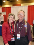 "Joan Ponath and Van ""The Radio Man"" at the Tea Party Summit on Feb. 27, 2011"