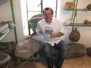 ARQUEOLOGO ELIAS RODRIGUEZ VAZQUEZ EN EL MUSEO ARQUEOLOGICO DEL CHINO BILLETERO. CULIACAN, SINALOA, DICIEMBRE 2015